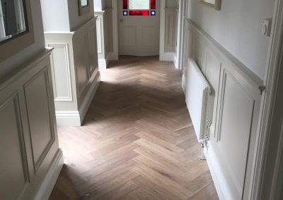 Engineered Single Smoked Oak with White Oiled Finish